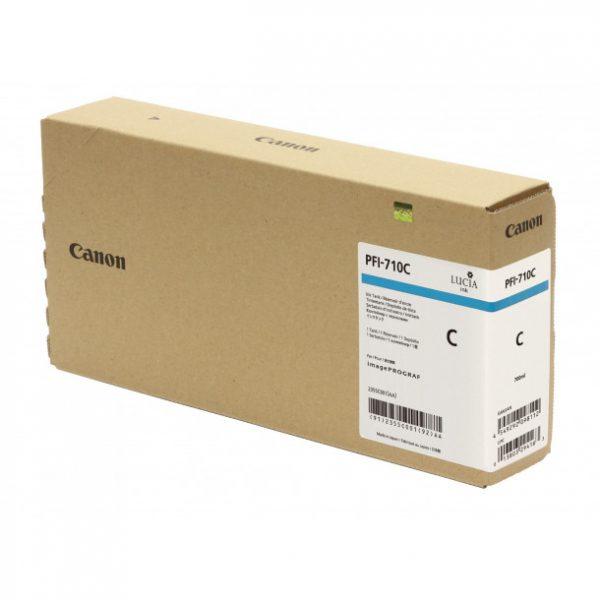 Cartucho com tinta Canon PFI710 (Cyan) para uso em impressora Canon imagePROGRAF TX2000 / TX-3000 / TX-4000 - (700ml) - Codigo - 2556C001AA