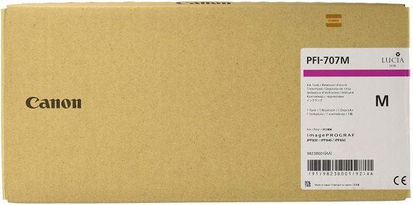 Cartucho com tinta Canon PFI 707 (Magenta) para uso em impressora Canon IPF830 / 840 / 850 (700ml) - Codigo - 9823B001AA