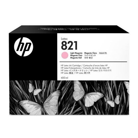 Cartucho HP Látex 115 Modelo 821 (Part-Number GOY91A) - 400ML - MAGENTA CLARO